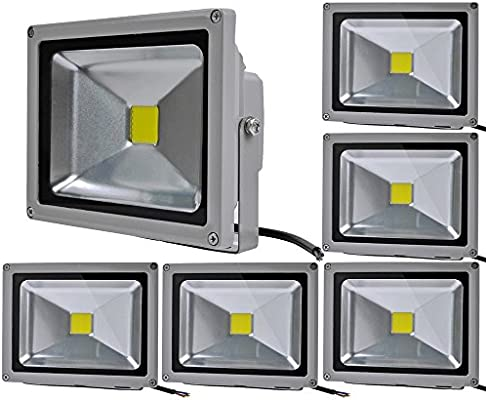 6pcs 20W LED Foco Proyector,ALPHA DIMA IP65 Impermeable Luz de ...