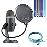 Blue Microphones Yeti Nano USB Mic for VoIP Conference, Podcasting (Shadow Grey) Bundle