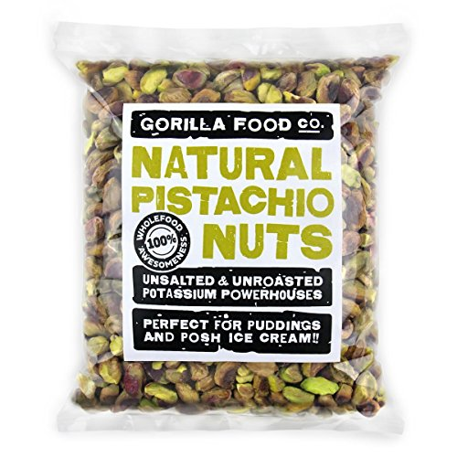 Gorilla Food Co. Raw Pistachio Shelled (No Shell) Kernels Unsalted Nutmeats 8oz Resealable Bag (FRESH CROP NOW IN STOCK!) - Single pack
