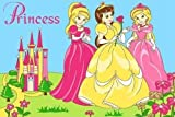 8 X 11 Girls Childrens Room Bedroom Three Princess & Castle Area Rug Non Skid
