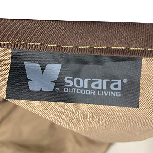 SORARA Swing Chair Cover Outdoor 3 Triple Seater Hammock Swing Glider Canopy Cover, All Weather Protection, Water Resistant, 80 L x 57 W x 72 H