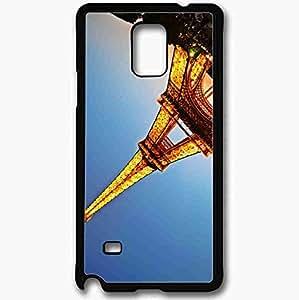 Unique Design Fashion Protective Back Cover For Samsung Galaxy Note 4 Case Eiffel Tower France Paris Black