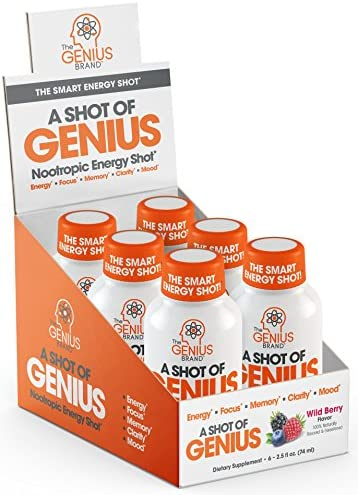 Shot Genius Nootropic Blueberry Supplement