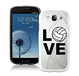 High Quality Samsung Galaxy S3 I9300 Case ,Cool And Fantastic Designed Case With Volleyball Keep Calm Play On Volleyball Player White Samsung Galaxy S3 I9300 Cover