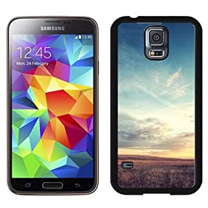 New Beautiful Custom Designed Cover Case For Samsung Galaxy S5 I9600 G900a G900v G900p G900t G900w With Nature Wild Grassland Skyline Phone Case