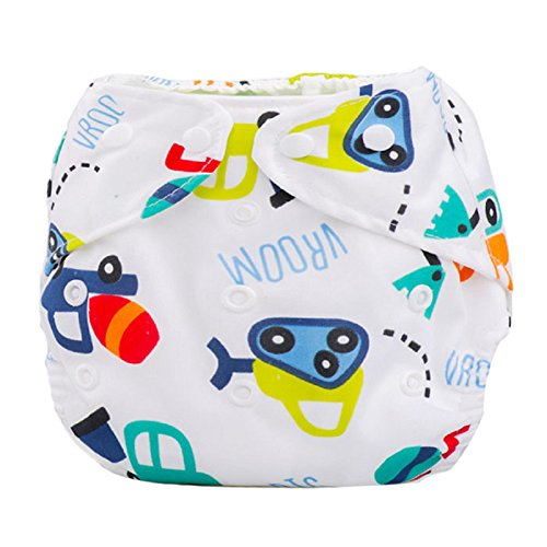 Baby Summer Diaper, Misaky Cover Adjustable Reusable Washable Nappy (Free Size, G)