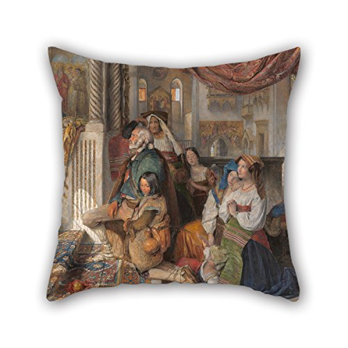 The Oil Painting John Frederick Lewis - Roman Pilgrims Cushion Covers Of ,16 X 16 Inches / 40 By 40 Cm Decoration,gift For Club,coffee House,deck Chair,kids,father,wife (both Sides)