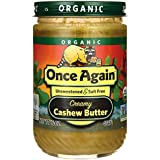 Once Again Organic Creamy Cashew Butter 16 oz (454 grams) Jar