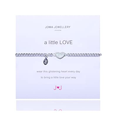 New Joma Jewellery A Little Love Clear Crystal Heart Bracelet 3F9zFRgD