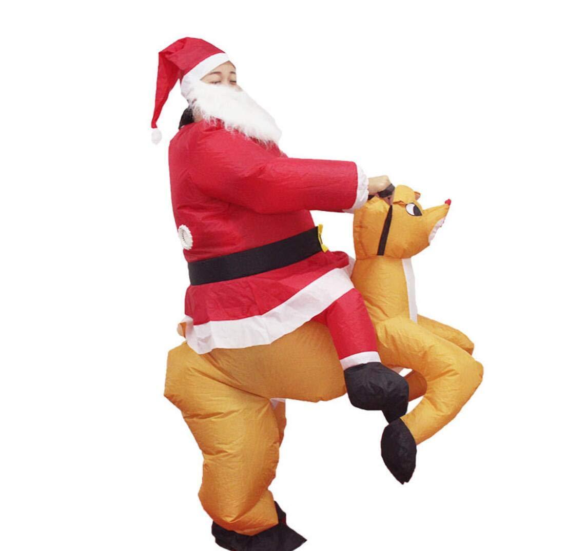 Amazon.com: JXJ - Disfraz de Navidad inflable con diseño de ...