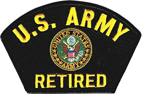 Us Army Retired Patch (U.S. Army Retired Arch Text with Logo Felt Iron-On Patch [Black - 5
