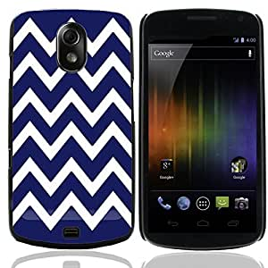 Graphic4You Chevron Pattern Design Hard Case Cover for Samsung Galaxy Nexus (Navy Blue)