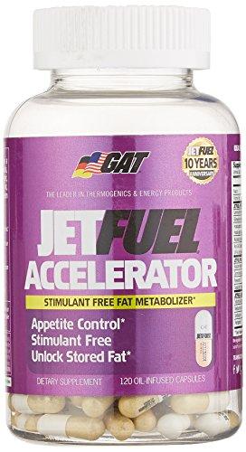 Gat Jet Fuel Accelerator Capsules, 120 Count