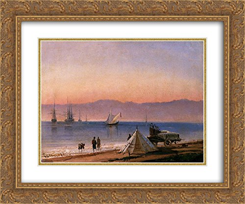 Alexey Bogolyubov 2X Matted 24x20 Gold Ornate Framed Art Print 'Sinop. Turkey'