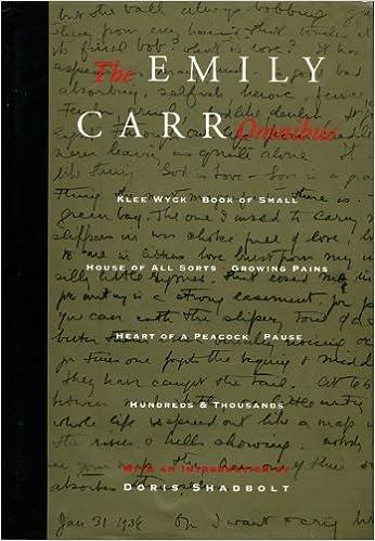 The Emily Carr Omnibus, Carr, Emily; Shadbolt, Doris