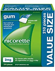 Nicorette Quit Smoking, Nicotine Gum, Extreme Chill Mint, 2mg Value Size, 210 count