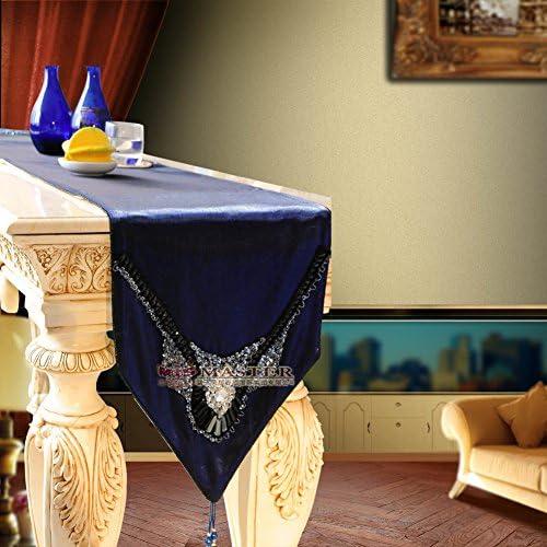 Treヨーロピアンスタイル高級テーブルランナー/ベッドランナー/サイドキャビネットランナー 35x280cm(14x110inch) mzkaksoqp