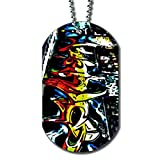 Graffiti Street Art Comic - Dog Tag Necklace