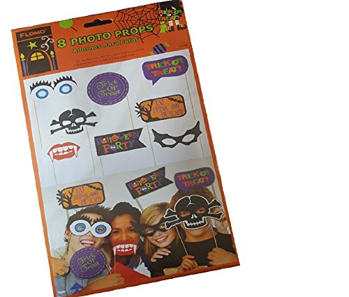 Halloween Booth Photo Props Selfie Pictures 8 Count Trick or Treat (Halloween Drinks Photos)