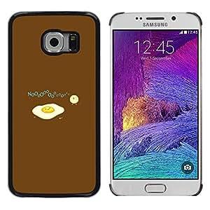 TopCaseStore / la caja del caucho duro de la cubierta de protección de la piel - Egg Food Baby Chicken Art Drawing Symbolic - Samsung Galaxy S6 EDGE SM-G925