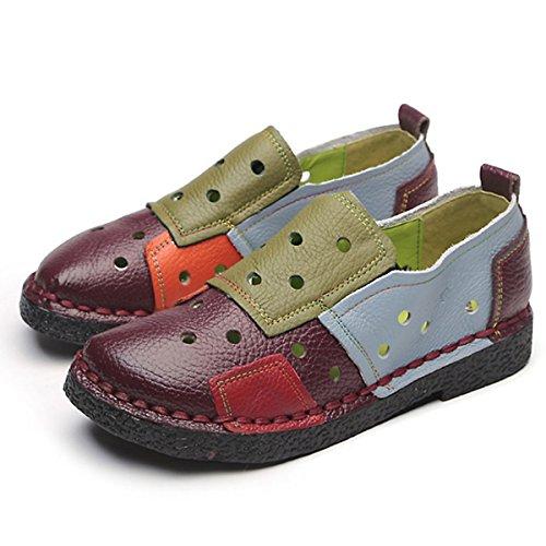 pour de travail confortables travail femmes et Chaussures chaussures plates avec de CHNHIRA simples plates rouges chaussures wOYqA5S