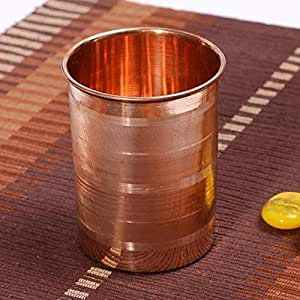 Royal sapphire Pure Copper (99.74%)   Traveller's Copper Mug for Serving Water   for Ayurveda Health Benefits (10.8 US Fluid Ounce)