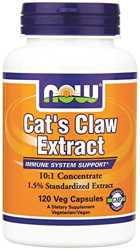 - NOW Foods - Cat's Claw Extract 10:1 Concentrate/1.5% Standardized Extract - 120 Vegetarian Capsules (formerly Cat's Claw 5000)
