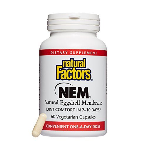 (Natural Factors, NEM Natural Eggshell Membrane, Promotes Joint Comfort and Flexibility with Collagen, Chondroitin and Hyaluronic Acid, 60 capsules (60 servings) )