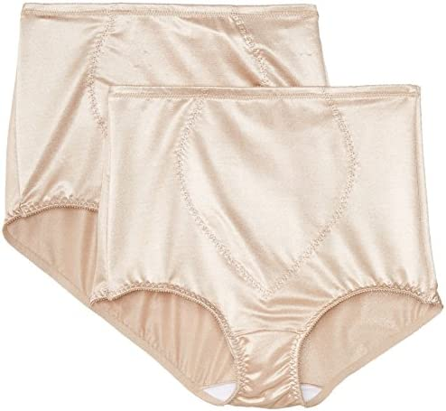 Bali Women's Shapewear Tummy Panel Brief Firm Control 2-Pack