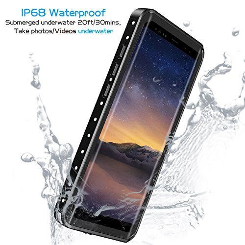 huge discount 4ded9 0411e Lanwow Samsung Galaxy Note 8 Waterproof Case, Support Wireless Charging  Note 8 Waterproof Case Built-in Screen Protector Rugged Shockproof  Waterproof ...