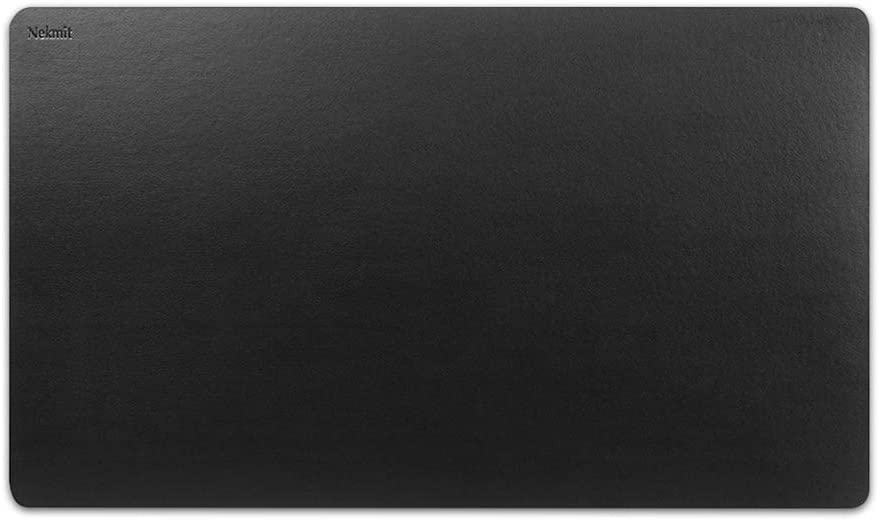 Nekmit Leather Desk Blotter Pad 36 x 20 Inches, Waterproof, Non-Slip, Black : Office Products