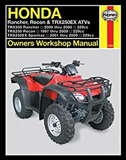 Yamaha kodiak grizzley atvs 1993 2005 owners workshop manual honda rancher recon trx250ex atvs 2000 2009 owners workshop manual fandeluxe Image collections