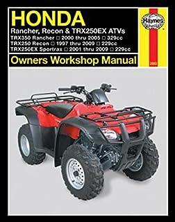 honda trx350 rancher 00 06 clymer motorcycle repair penton staff rh amazon com 2001 honda trx 350 es owners manual 1986 honda trx 350 owners manual