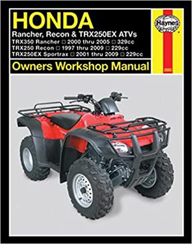 Honda Rancher, Recon, TRX250EX ATV's, 2000-2009 (Owners