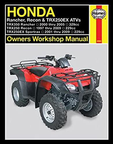 honda rancher recon trx250ex atv s 2000 2009 owners workshop rh amazon com 2013 TRX250EX Honda TRX700XX Accessories