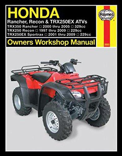 - Honda Rancher, Recon, TRX250EX ATV's, 2000-2009 (Owners' Workshop Manual)