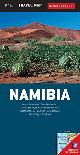Globetrotter Travel Map - Namibia Travel Map, 8th (Globetrotter Travel Map)