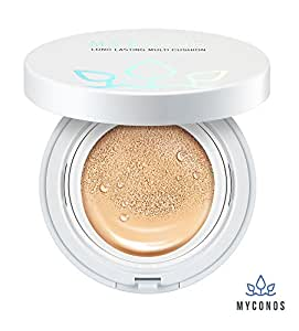 Myconos Magic BB CC Moist Air Cushion Compact Korean Cover Foundation SPF50+ with 1 Extra Refill Luminous Glow Shade 21