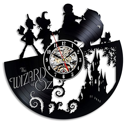 Wizard Of Oz Door - The Wizard Of OZ Vinyl Record Wall Clock - Decorate your home with Modern Art - Gift for kids, girls and boys - Win a prize for a feedback