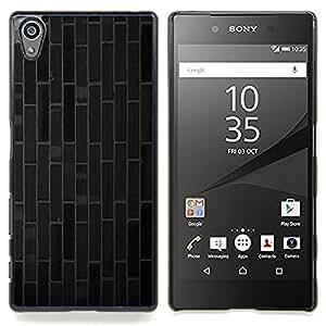 """Qstar Arte & diseño plástico duro Fundas Cover Cubre Hard Case Cover para Sony Xperia Z5 5.2 Inch (Not for Z5 Premium 5.5 Inch) (Ladrillo azulejos líneas modelo gris oscuro"""")"""