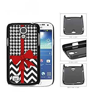 Red Ribbon With Houndstooth And Chevron Pattern Hard Plastic Snap On Cell Phone Case Samsung Galaxy S4 SIV Mini I9190Kimberly Kurzendoerfer