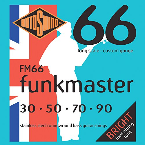 Rotosound FM66 Swing Bass 66 Stainless Steel Funkmaster Bass Guitar Strings (30 50 70 90) Rotosound Swing Bass