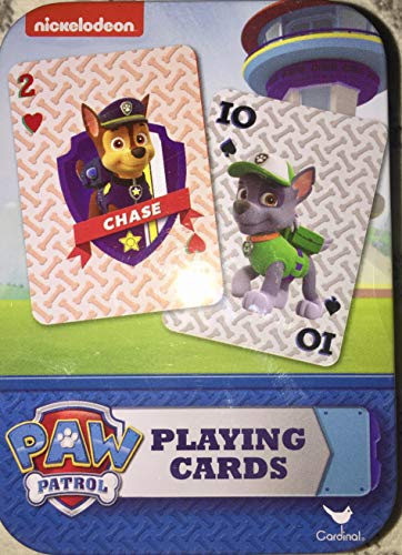 Disney, Nickelodeon, Marvel & More Licensed Character Playing Cards in Tins (Paw Patrol)