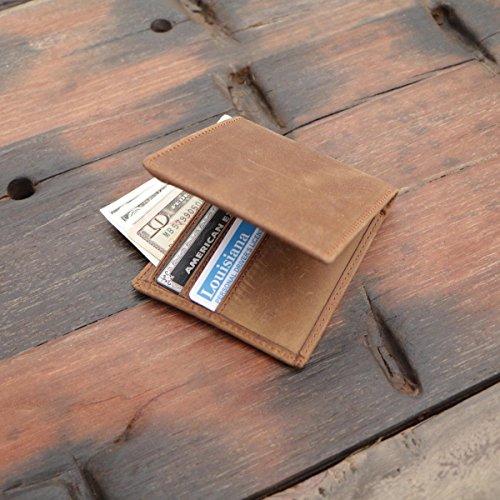 d63a3b680b89 Polare Men's RFID Blocking Vintage Italian Genuine Leather Slim Bifold  Wallet