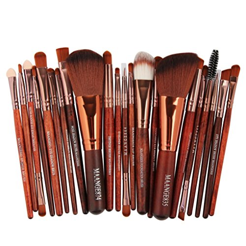 22pcs Makeup Brush ,sandistore Cosmetic Makeup Brush Blusher Eye Shadow Brushes Set Kit (Brown)