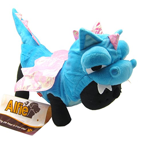 (Alfie Couture Designer Pet Apparel - Smokie the Dragon Dinosaur Costume - Color: Blue, Size:)