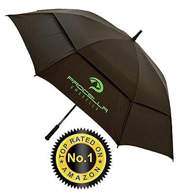 Procella Golf Umbrella 62-inch Large Windproof Auto Open Rain & Wind Resistant