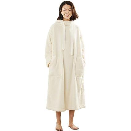 Pijamas Damas Batas De Baño Toallas Albornoces Faldas Ropa De Hogar De Moda Linda Bolsillo Casual