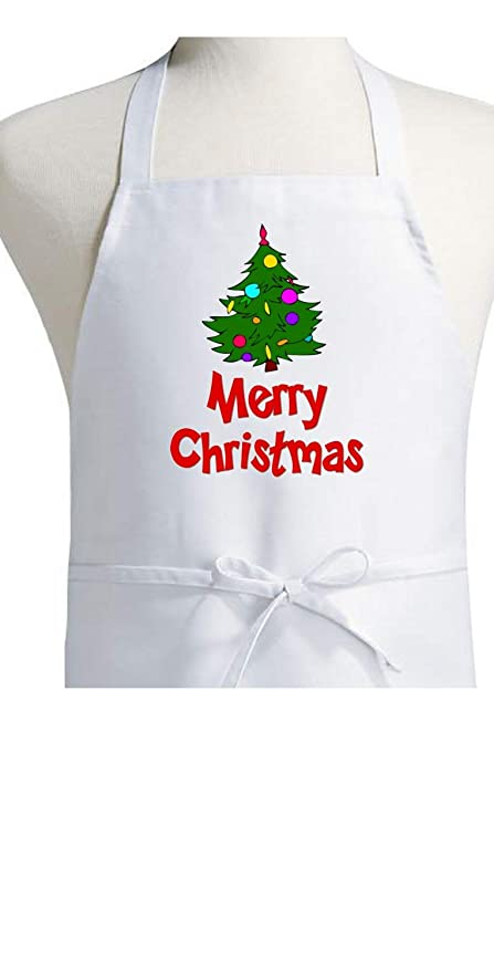 6846bc8344b1 Amazon.com: Merry Christmas Aprons For The Holidays: Home & Kitchen