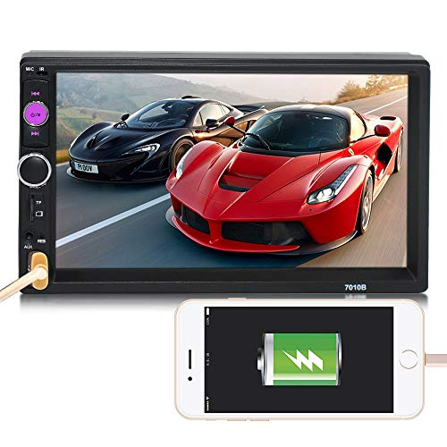 Bluetooth Car Stereo HD Car Player, 7inch HD Double DIN Bluetooth Touch Car Stereo Radio MP5/MP3 Player: